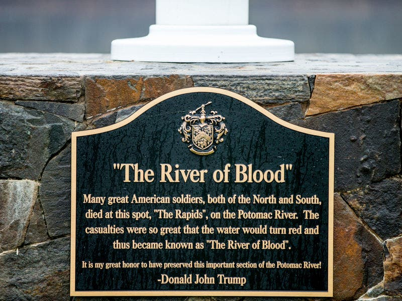 Fake Memorial President Trumps River Of Blood Civil War Battle