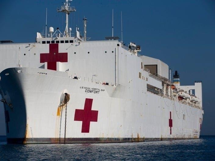 USNS Comfort To Sail Into NYC Harbor Monday