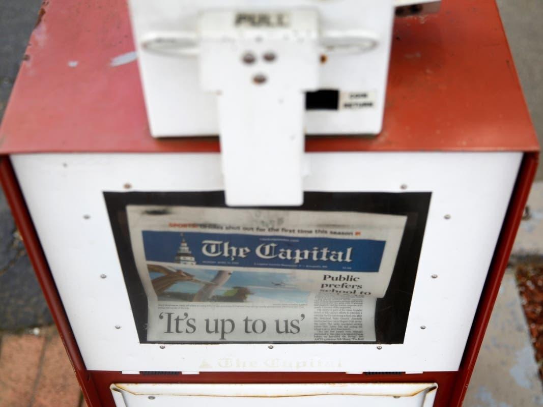 Tribune Closing Capital Gazette Office