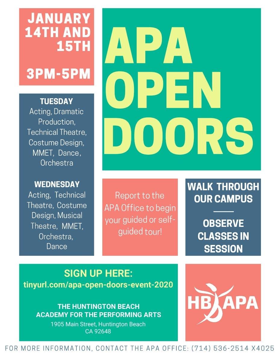Events In Orange County January 2020.Apa Open Doors A 2020 Open House Event Orange County Ca