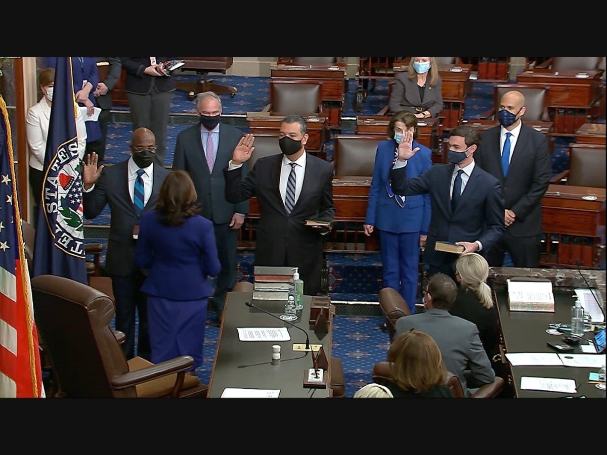 LA's Alex Padilla Sworn In As California's First Latino Senator