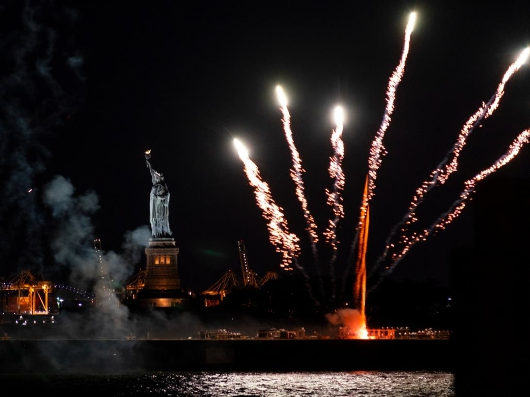 See The Photos: NYC Firework Show Marks End Of COVID Restrictions