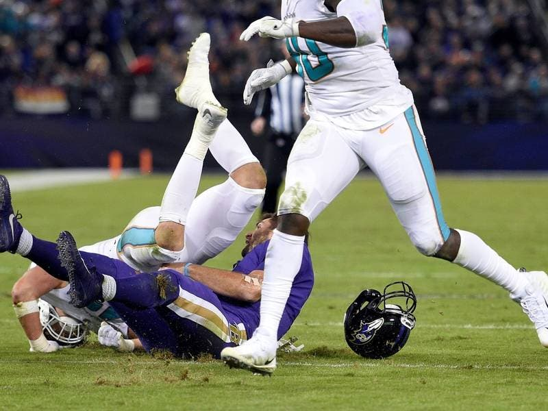 ... Ravens Vs. Dolphins  Flacco Out With Concussion-0 ... 1ab73a6f9
