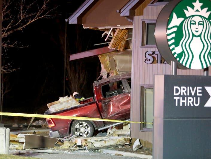 Truck Slams Into Starbucks, Pins Barista | PatchPM