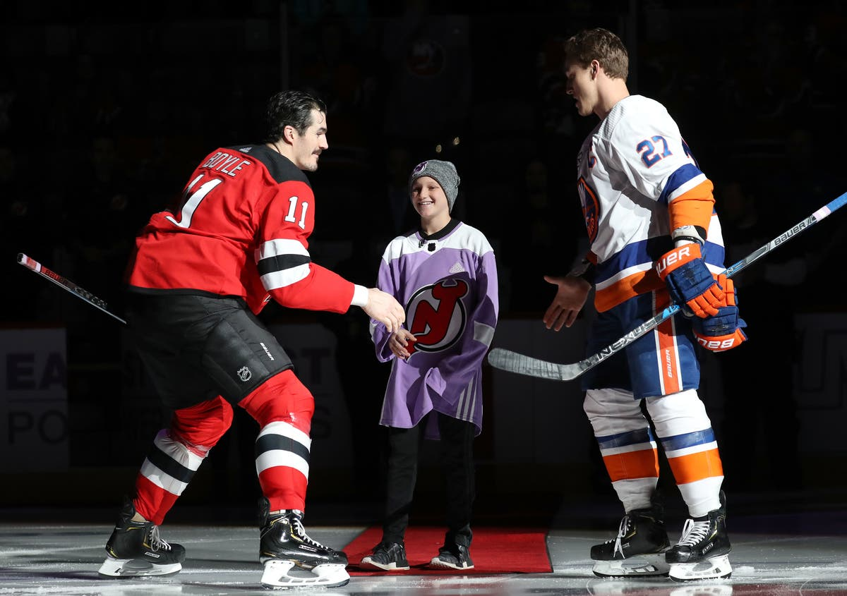 huge selection of a41f7 7142f NJ Devils Honor 11-Year-Old Englewood Leukemia Survivor ...