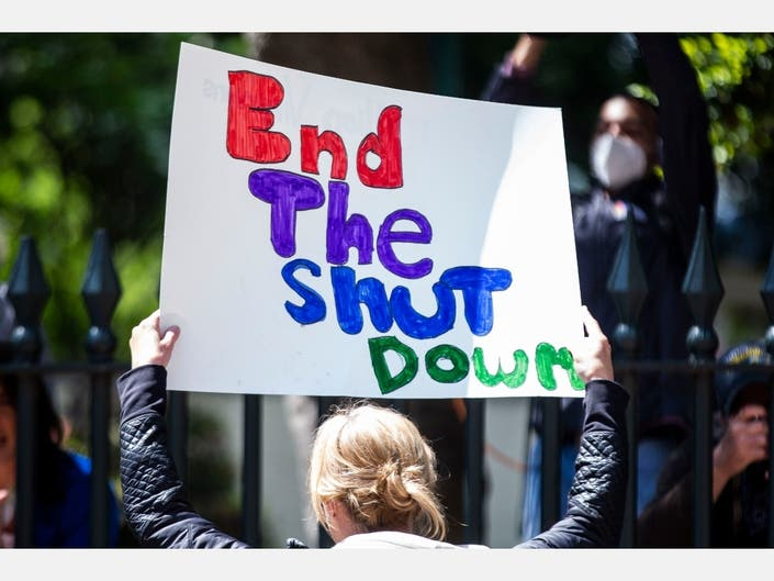 Demonstrations took place across the country, Friday. Protesters Demonstrate Outside The Virginia Capitol For Government To Ease Stay-At-Home Orders And Open Businesses Up