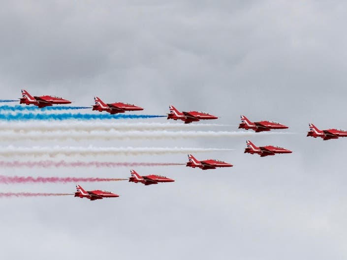 Red Arrows To Lead Stunning Flight Down Hudson To NYC Aug. 22