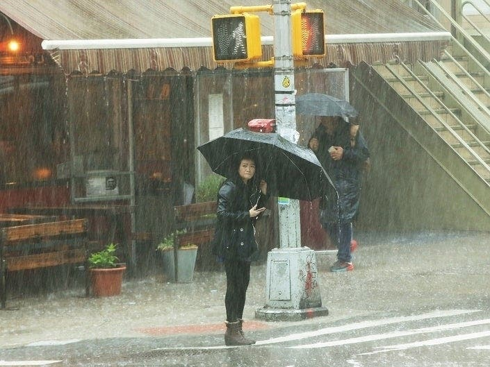 Severe Thunderstorm Warning Issued For NYC