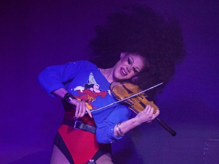 Local Legend: Thorgy Thor Plays Violin On Her Greenpoint Rooftop