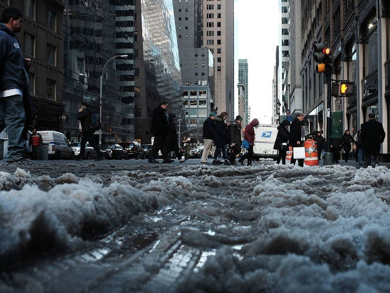 nyc weather forecast deep freeze to end with snow  new