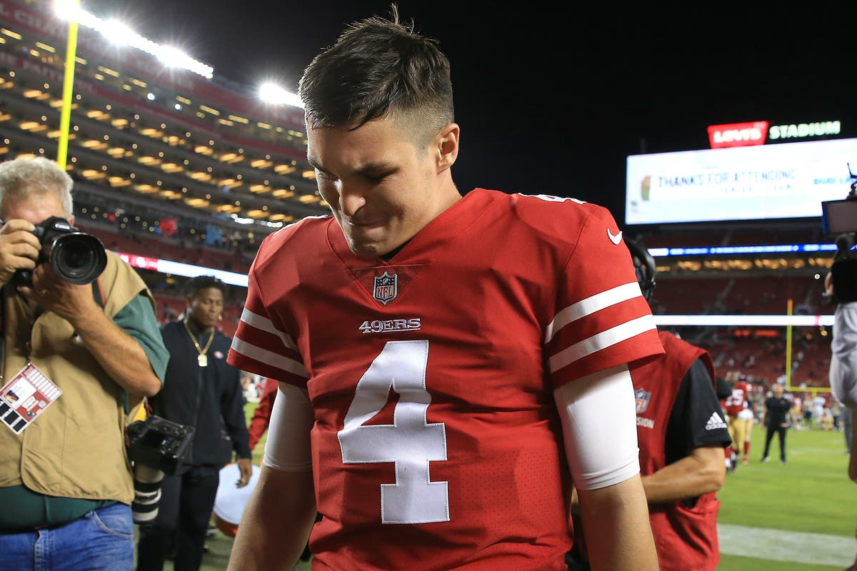 online store c828f 4c7ed Nick Mullens Makes Epic NFL Debut As 49ers Quarterback ...