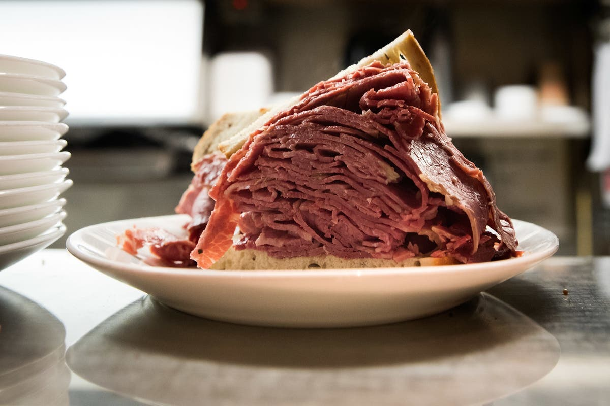A Massive Pastrami On Rye Sandwich Sits The Counter Of Now Shuttered Carnegie Deli Photo Courtesy Drew Angerer Getty Images