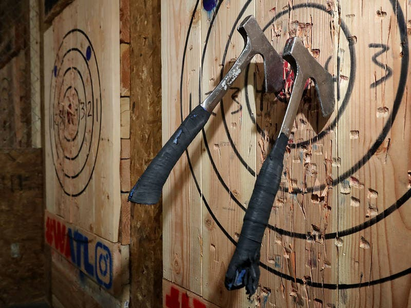 Greenpoint Axe-throwing Bar And Booze Don't Mix, CB Says