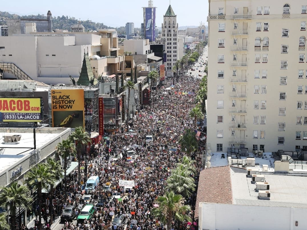 Thousands Join Hollywood All Black Lives Matter March Beverly Hills Ca Patch