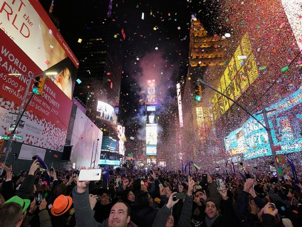 A general view during New Year's Eve 2017 in Times Square on December 31, 2016 in New York City.