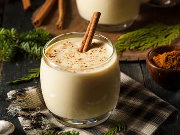 Making eggnog safer isn't that hard. Making it healthy is another challenge.