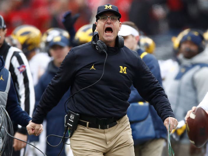4a64b79524fb75 Michigan Fans Name Baby Harbaugh  Jim Harbaugh Gets Giddy On Twitter ...