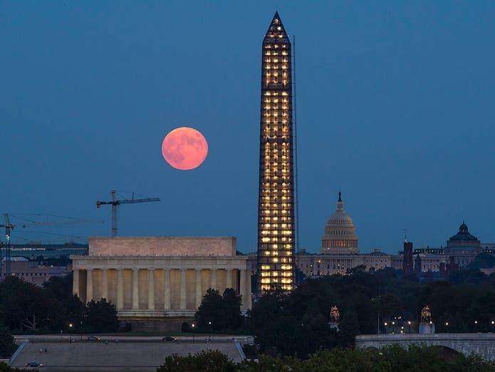 Rare Halloween Blue Moon Meteor Showers Light October Skies Across America Us Patch