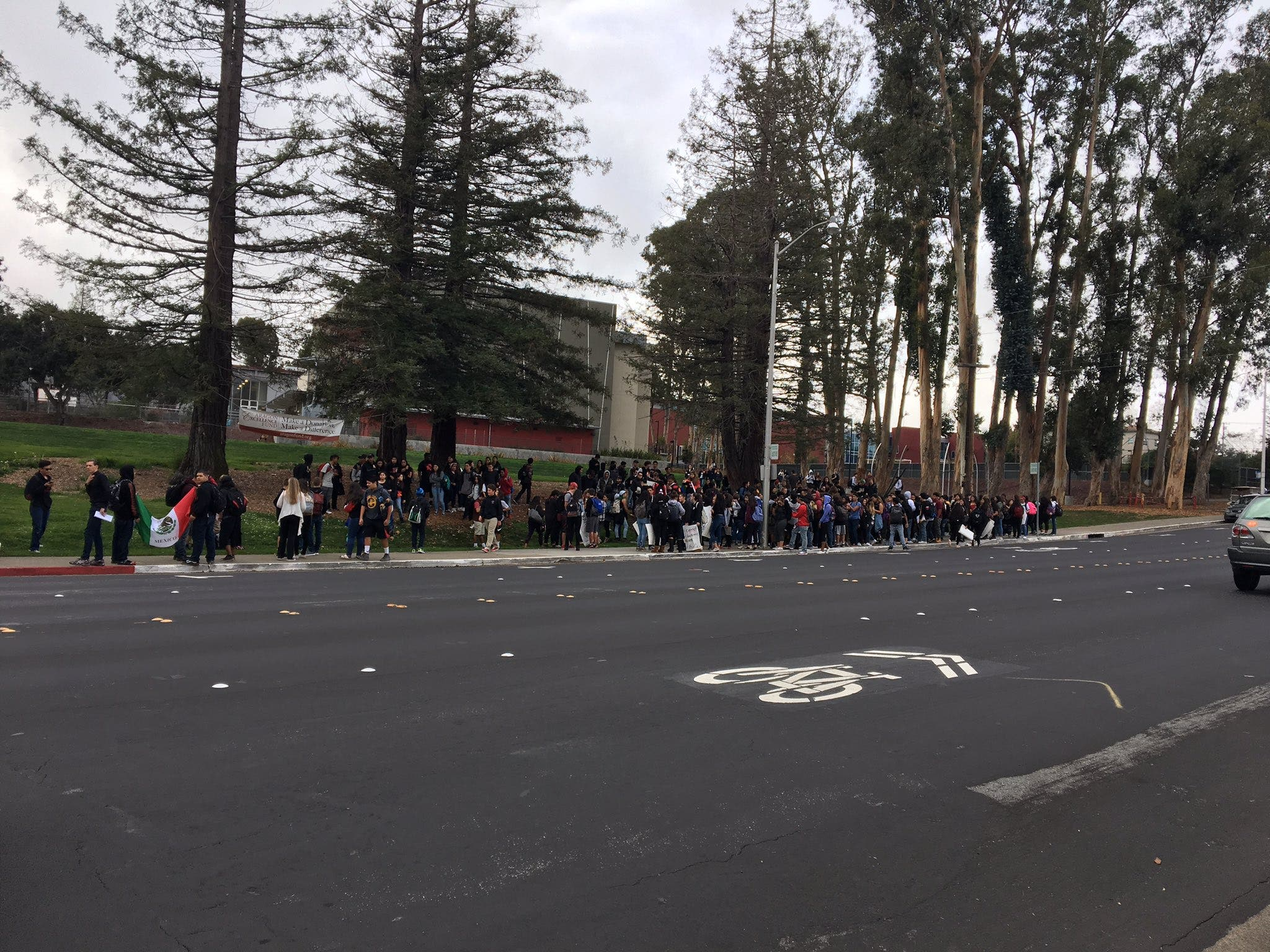 900 San Mateo Co  Students Take Part in Walkout
