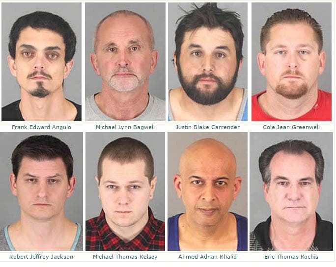 LIST: 18 Suspected 'Johns' Nabbed in Temecula, Riverside