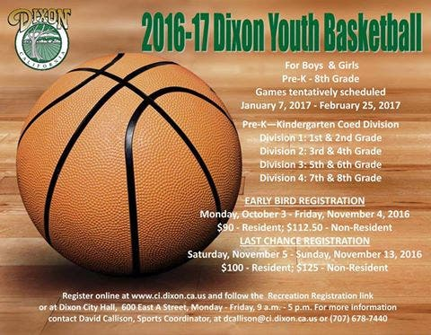 Dixon Youth Basketball Registration Is Open Dixon Ca Patch