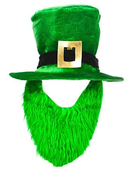 b737f5e6d48 St. Patrick s Day Costume Green Leprechaun Top Hat And Beard