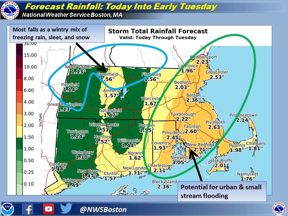 Massachusetts Weather Forecast: Nor'easter Bearing Down