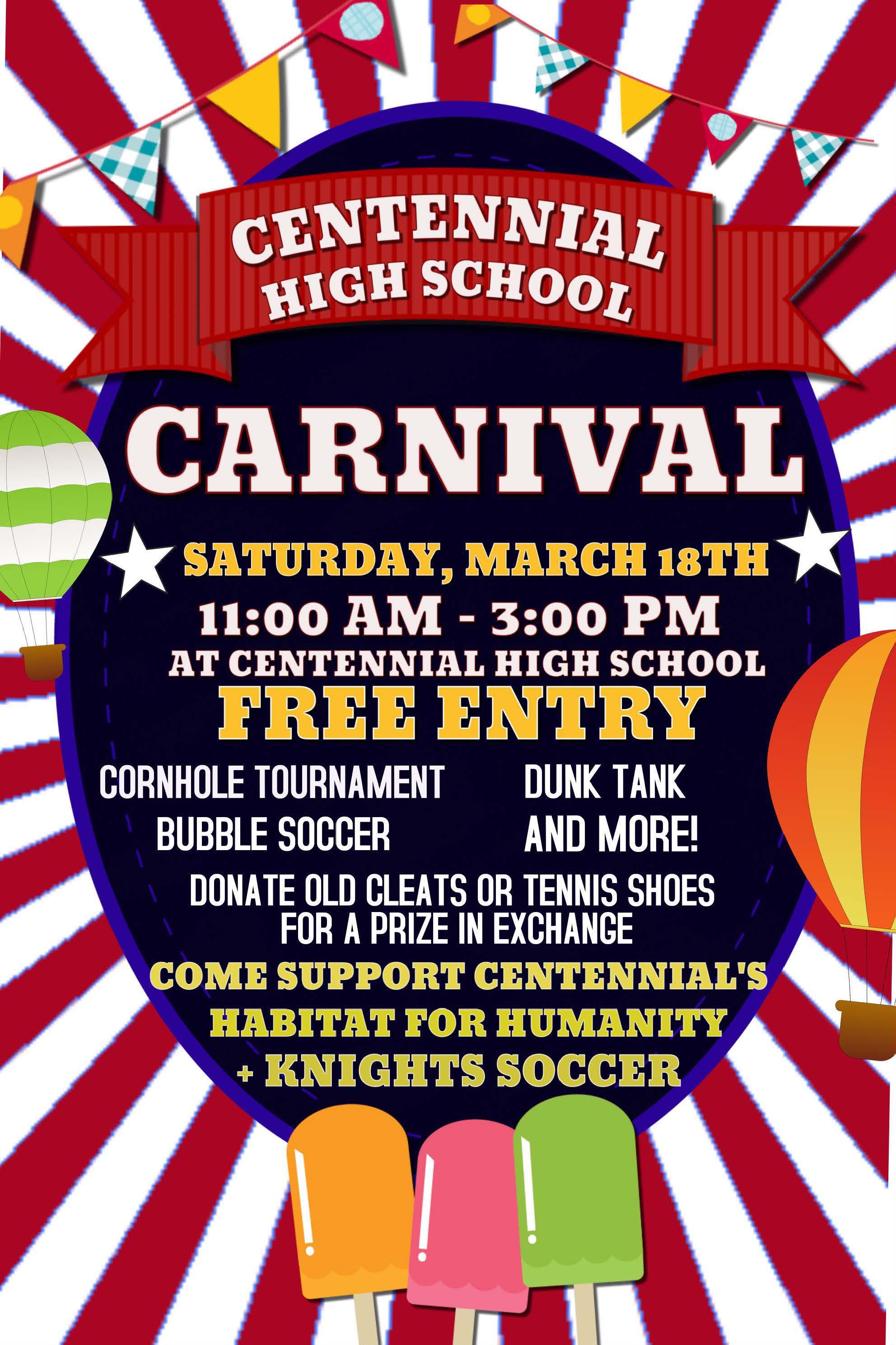 Centennial High School Plans Inaugural Spring Carnival