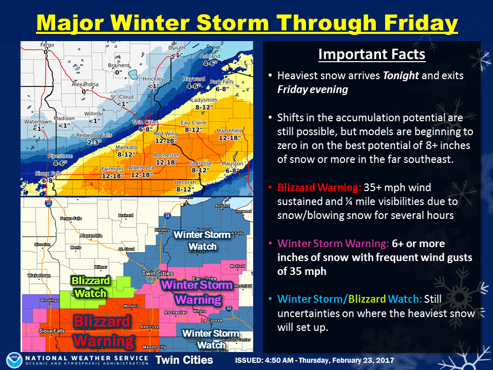 Minnesota Weather: Blizzard Watch, Warnings Issued | Maple Grove, MN ...