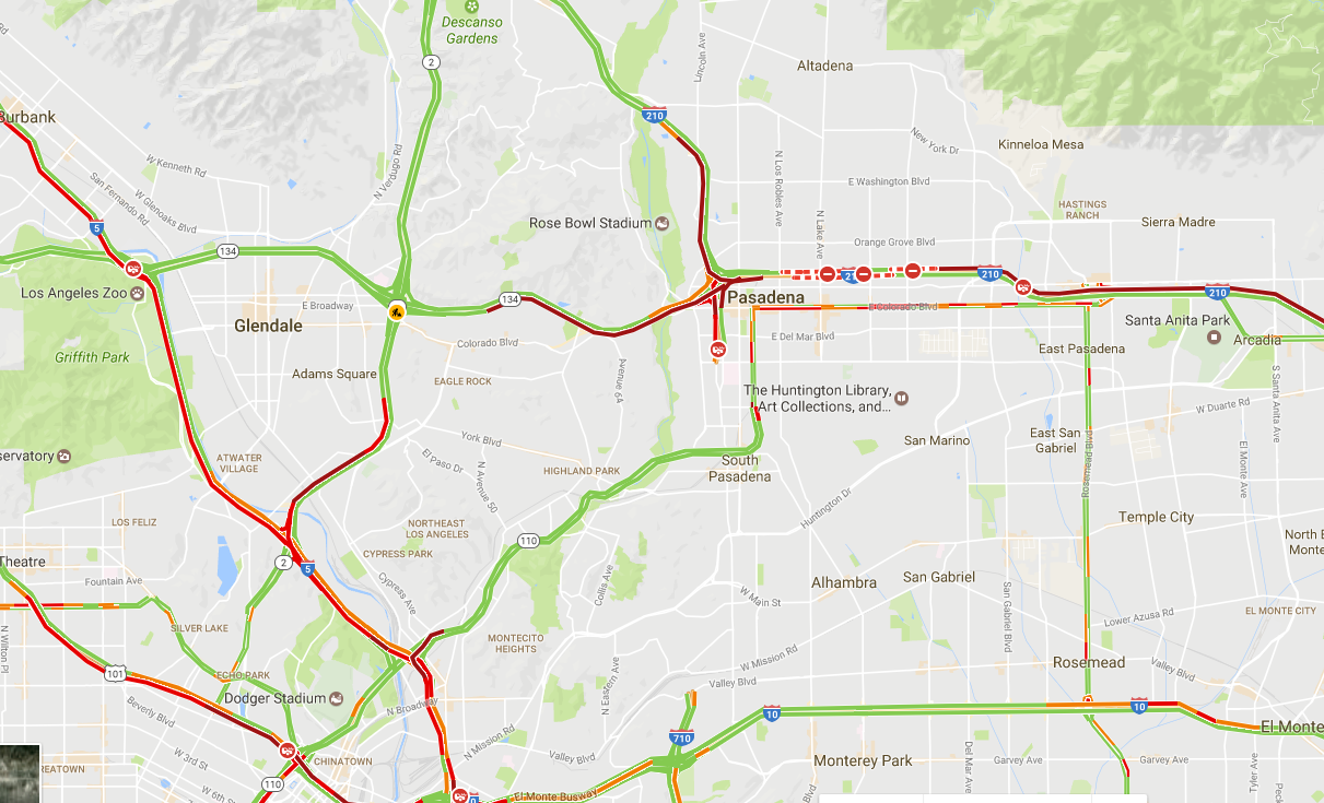 210 Freeway Reopened, Both Directions Following SIG Alert ... on