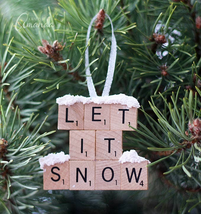 scrabble tile ornament - Christmas Decoration Craft Ideas