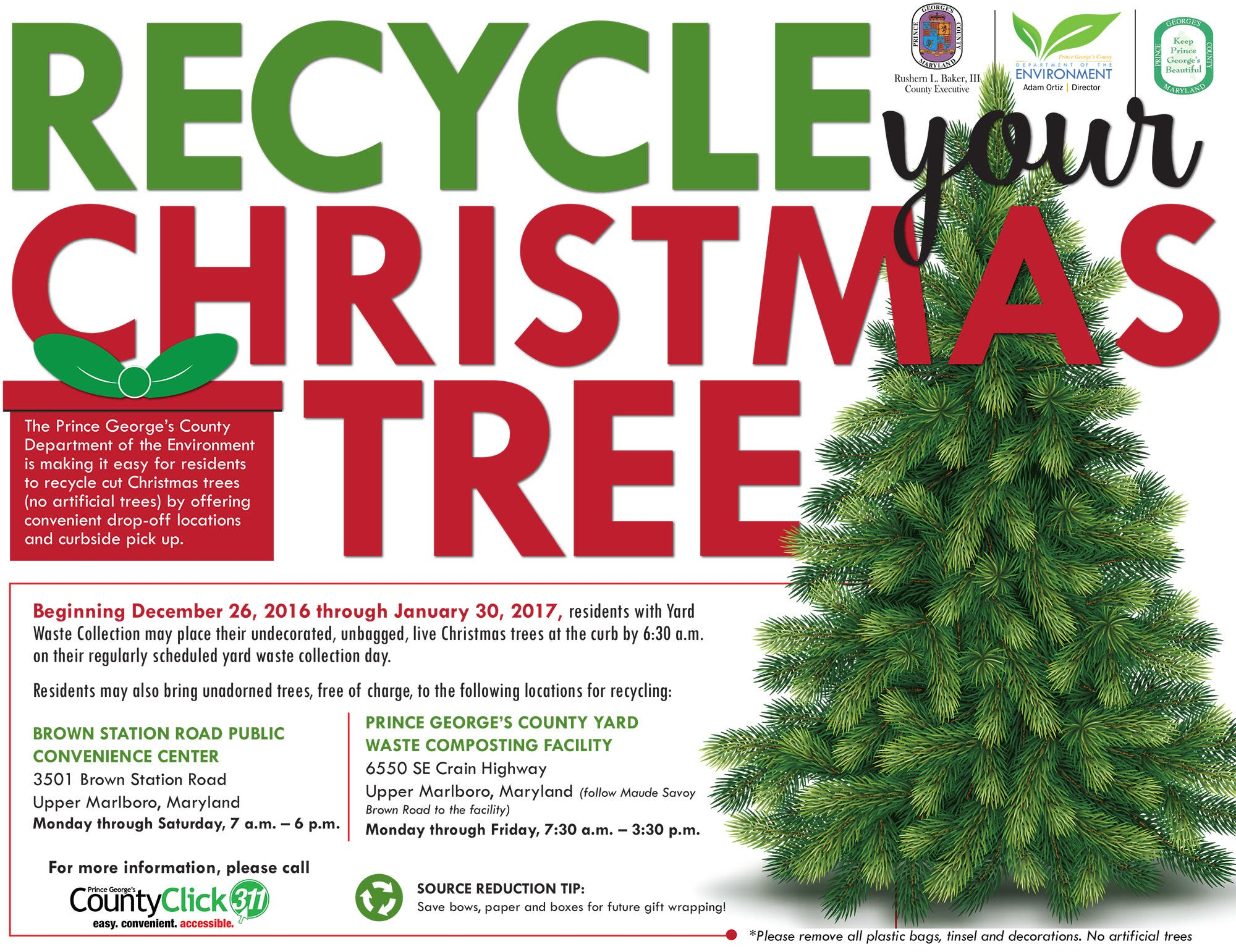 Be a #HolidayHero- Recycle Your Christmas Tree | Bowie, MD Patch