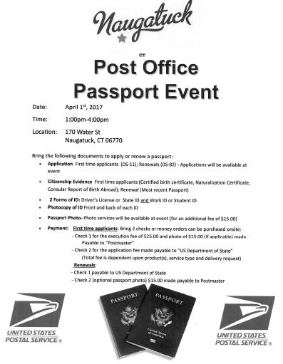 Naugatuck Hosts Post Office Passport Event | Naugatuck, CT Patch