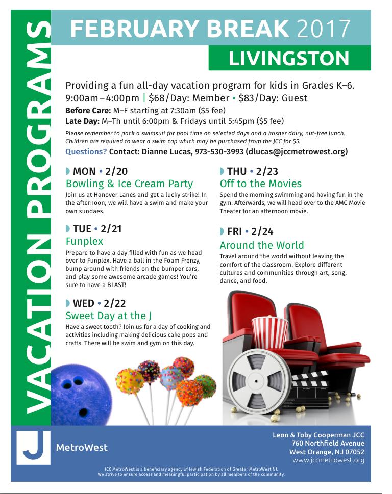 Livingston Elementary School Winter Break Childrens Program West