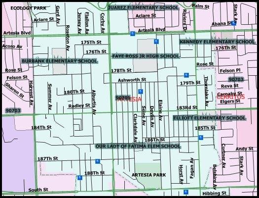 Artesia California Map.34 Sex Offenders In Cerritos Artesia 2016 Halloween Registry Map