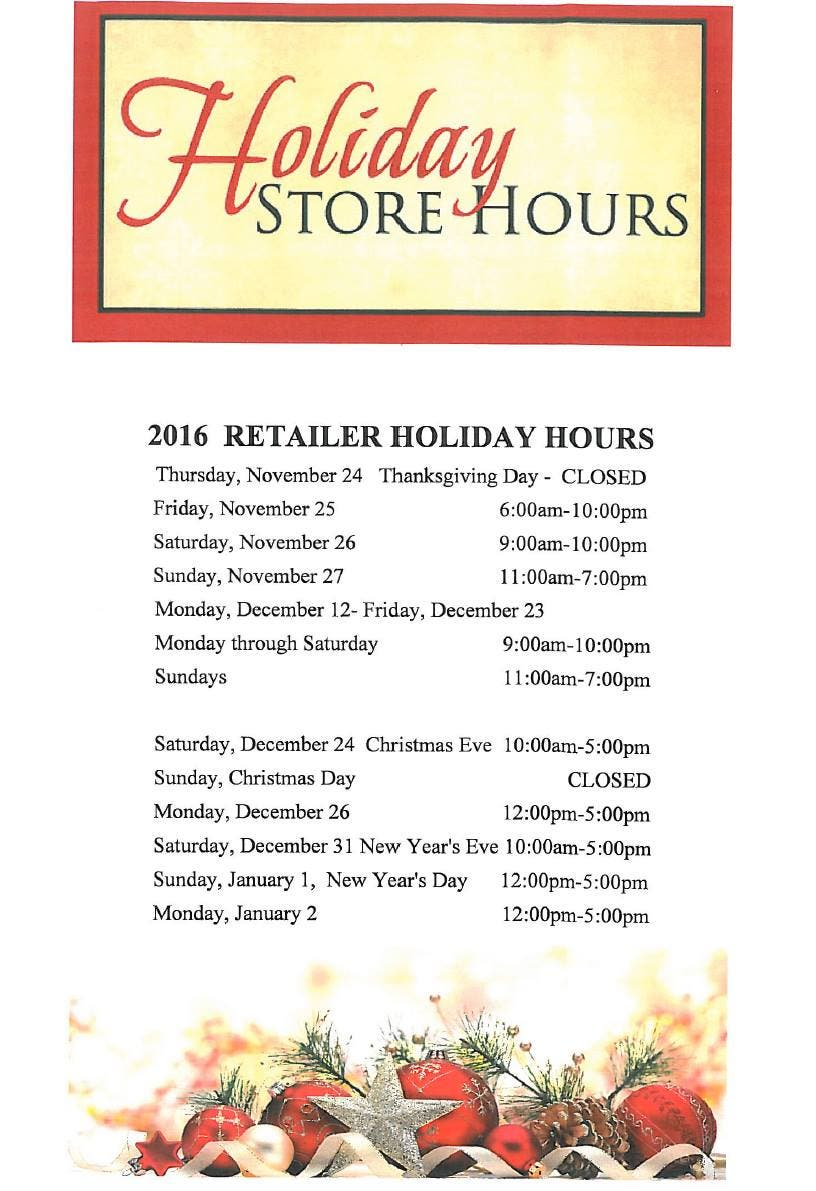 Some Suburban Malls Opt to Close on Thanksgiving But Most Will Open ...