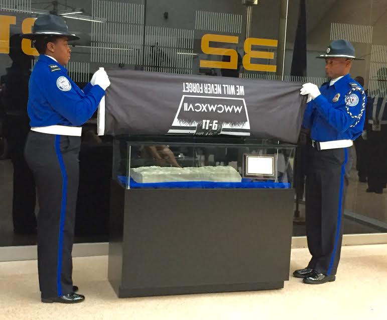 9 11 artifact unveiled at dulles international airport ashburn va
