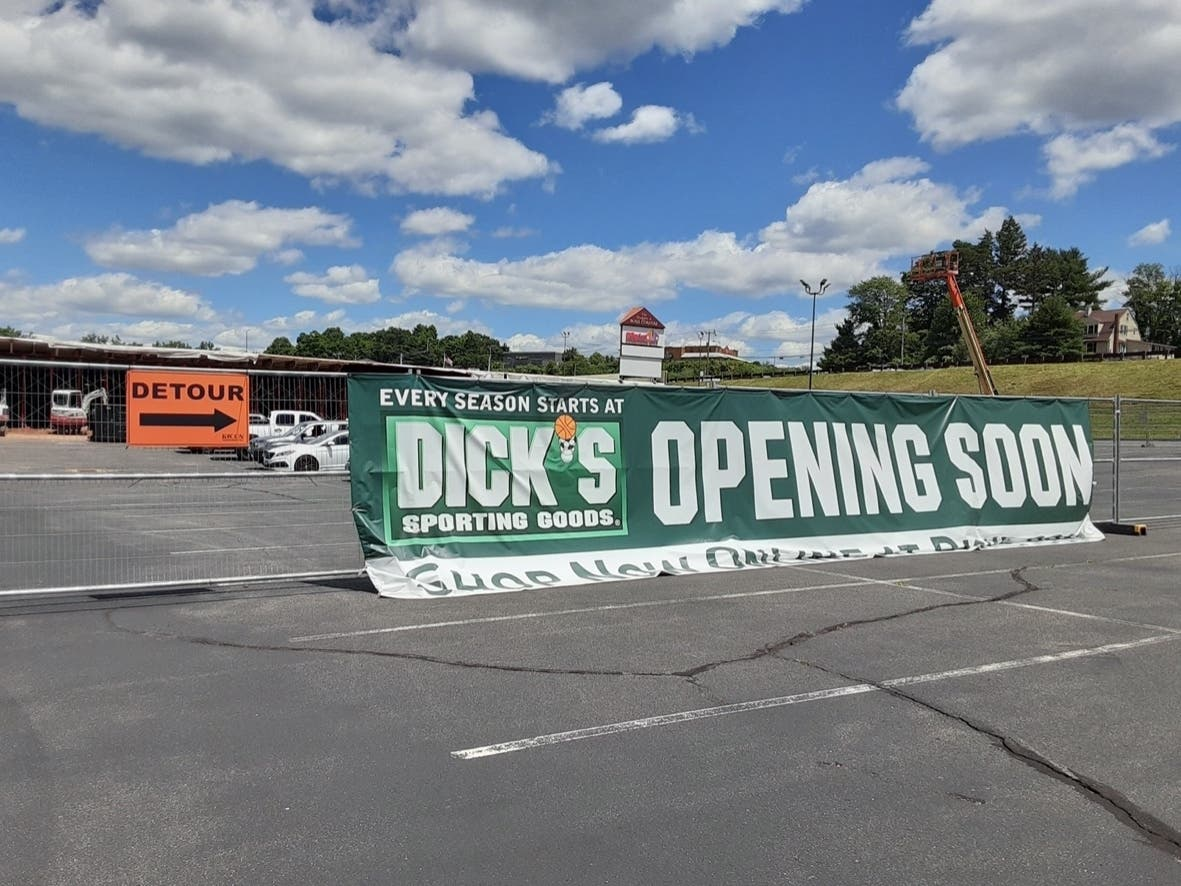 Construction On New Dick's Sporting Goods In Manchester Begins