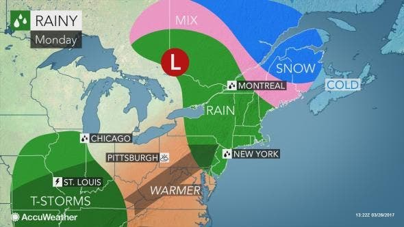 Enfield Weather: Rain and Chilly Temps In the Forecast