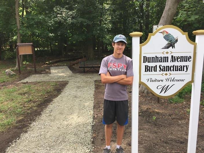 Westfield Scout Provides New Sanctuary Sign | Westfield, NJ