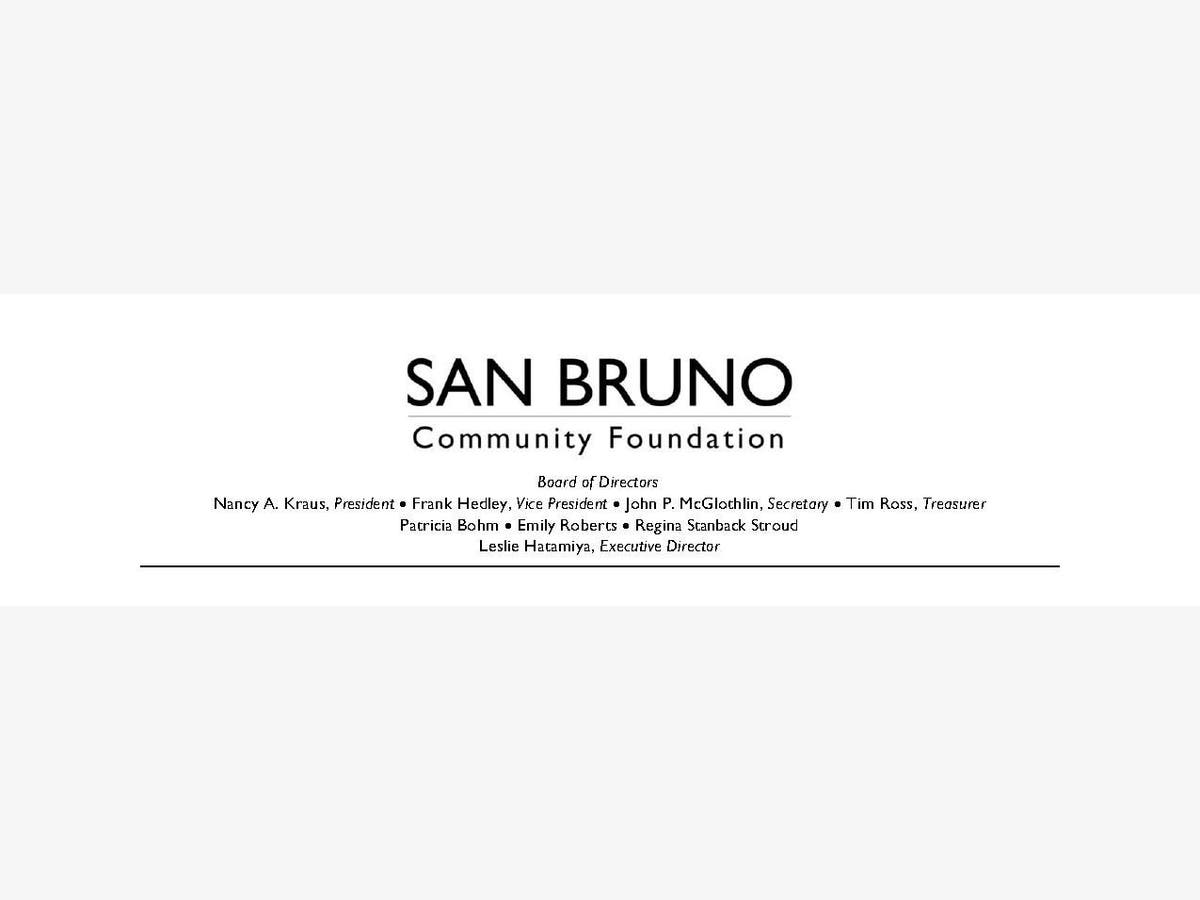 San Bruno Community Foundation's 2019 Grant Application OPEN | San