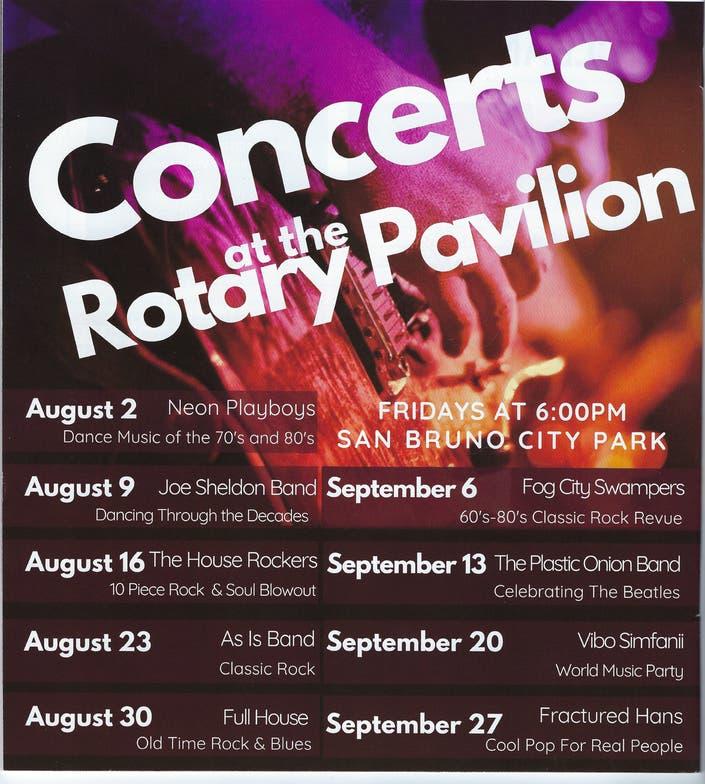 September 13 2019 - Concert In The Park | San Bruno, CA Patch