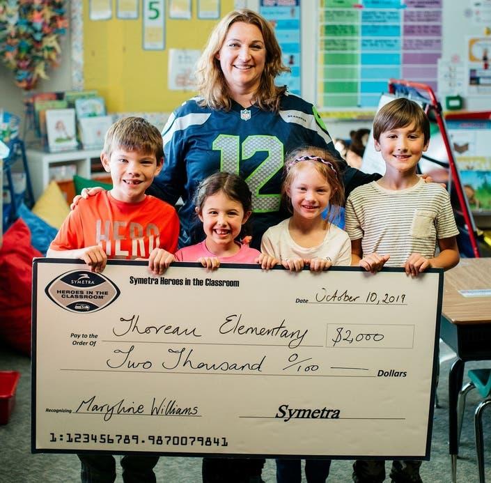 Symetra, Seahawks Honor Thoreau Elementary School Teacher