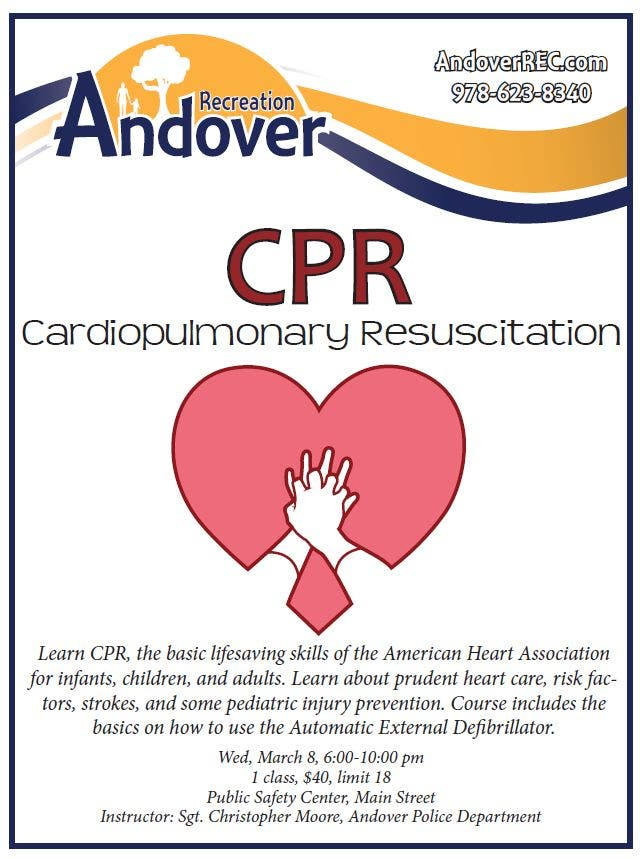 CPR Class - Renewal or Certification | Andover, MA Patch