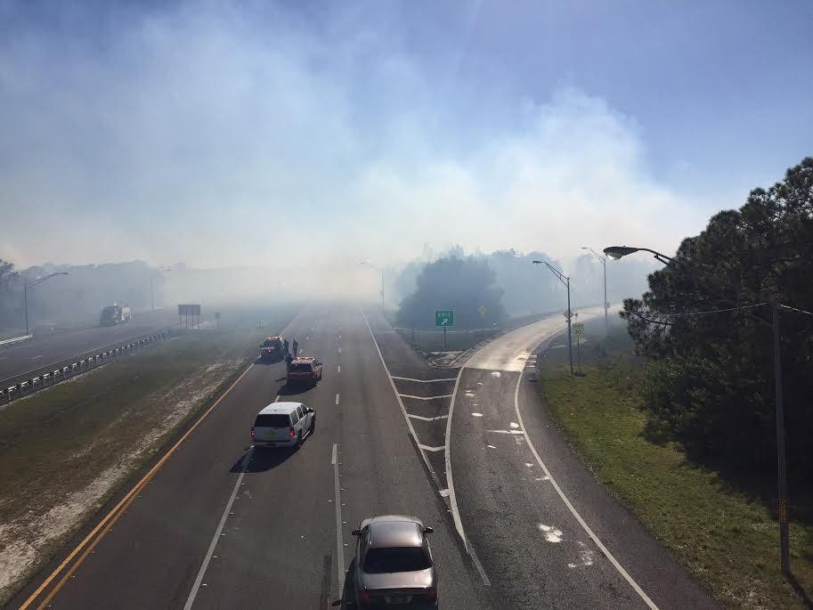 I-275 Open, Gandy Still Closed After Brush Fire | St  Pete
