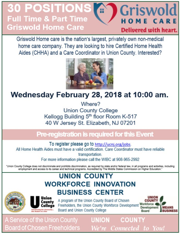 Job Seekers Invited: Union County Partners in Hiring Events