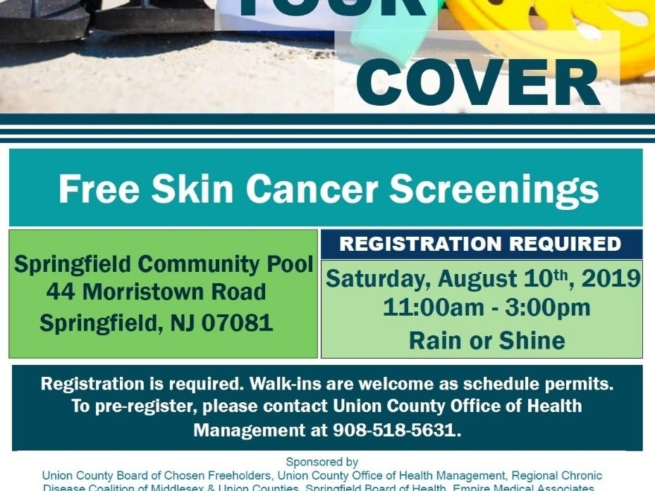 Free Choose Your Cover Sun Safety Event Westfield Nj Patch