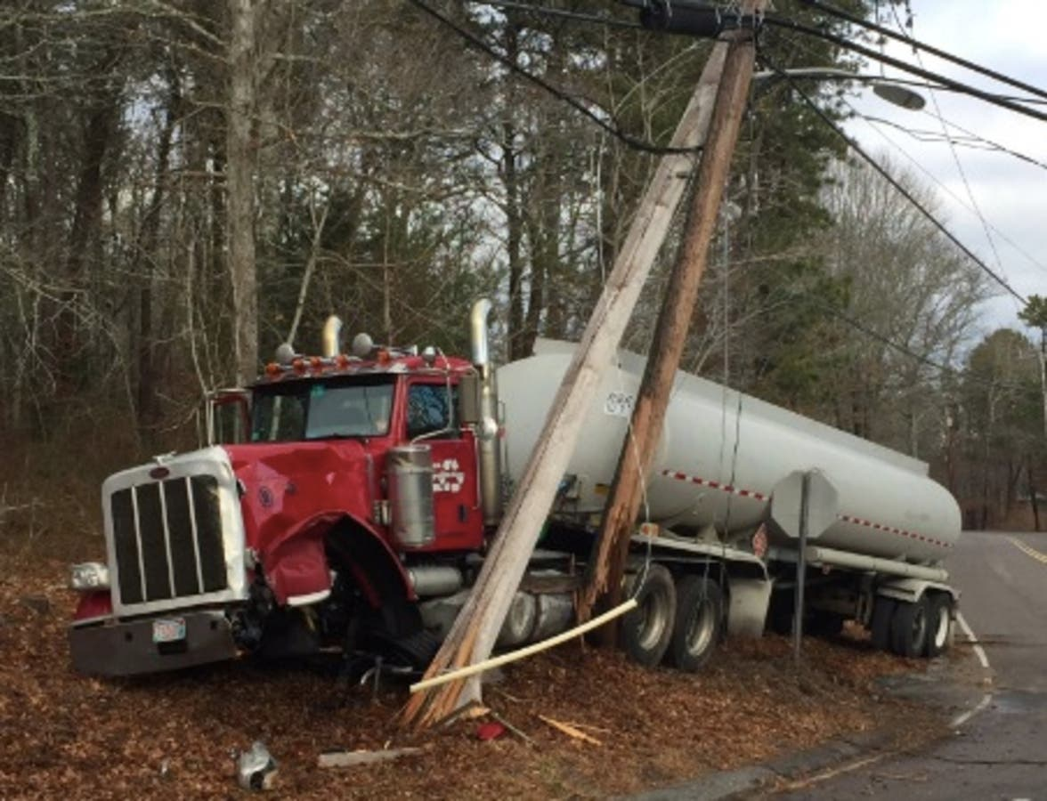 Falmouth Tractor-Trailer Crash On Sandwich Road | Falmouth