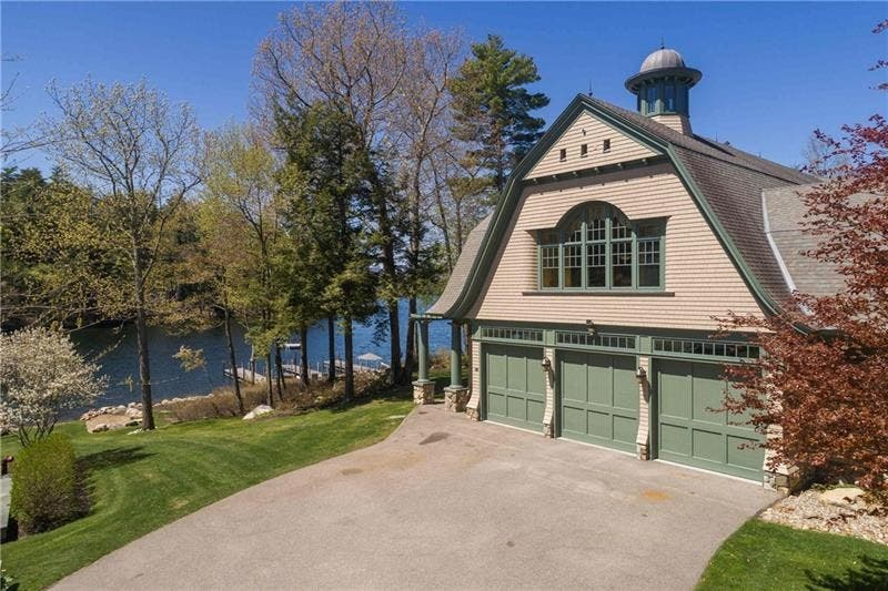 $11M NH Lake Winnipesaukee Home: Beach, Heliport, Wine Cellar