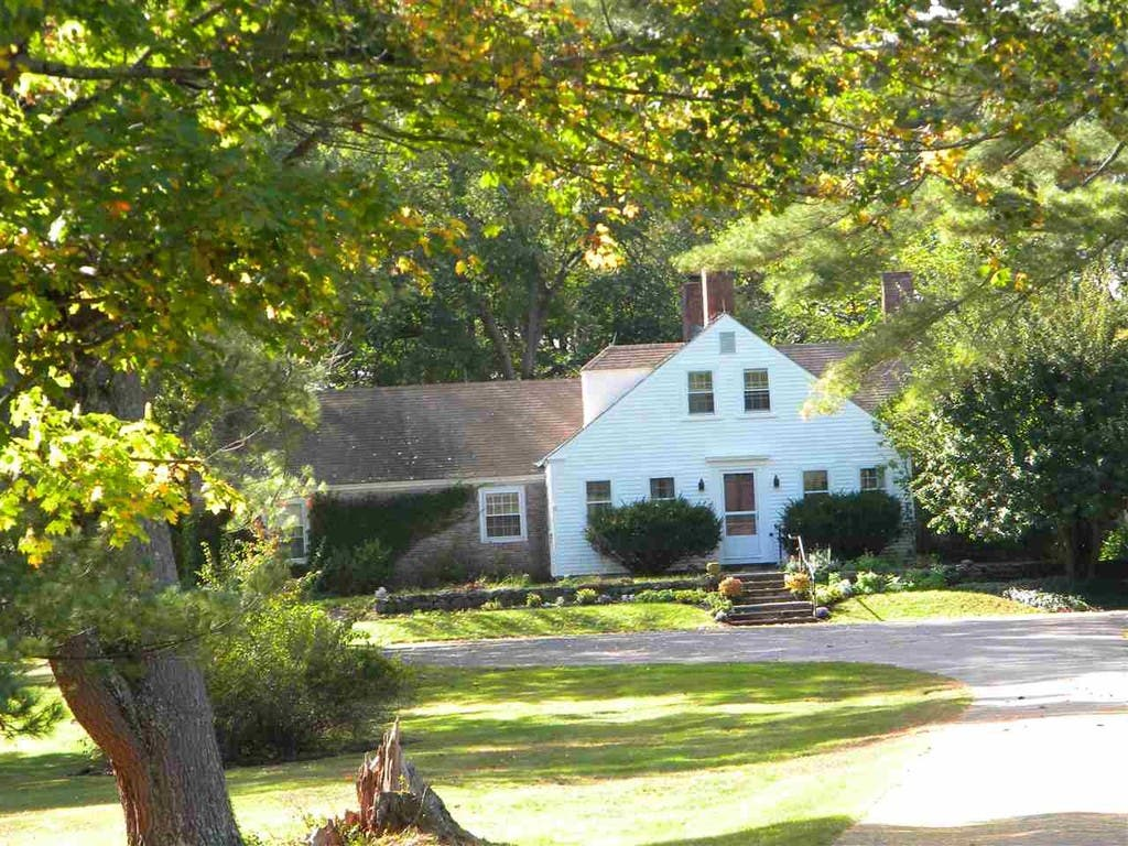 Waterfront NH Farmhouse: 12 Acres, Beach, 6 Fireplaces For $2 2M